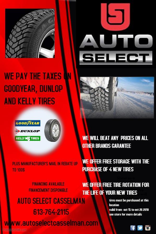 Garage Auto Select Casselman Winter Tires And Summer Tire Casselman
